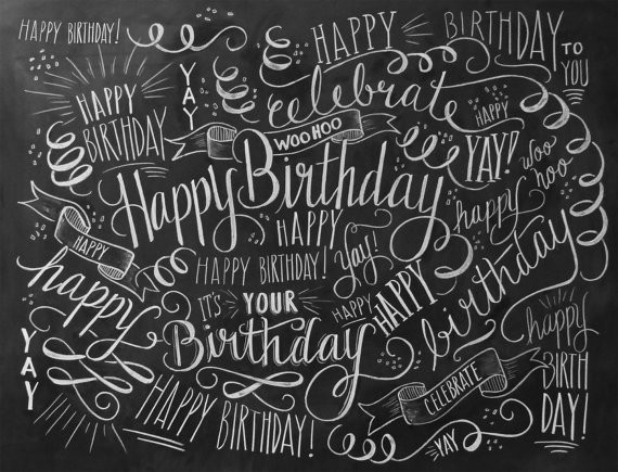 Birthday Wrapping Paper Birthday Gift Wrap Chalk By Lilyandval intended for Birthday Wrapping Paper Black And White 29501