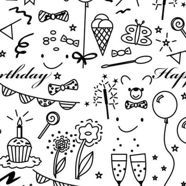 Birthday Wrapping Paper Designs Printable | Yspages In Printable in Birthday Wrapping Paper Black And White 29501