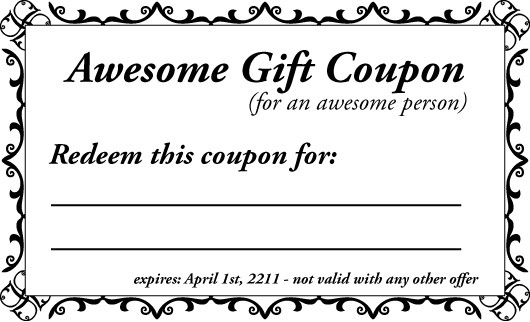 Black And White Birthday Coupon Template | Flogfolioweekly for Birthday Coupon Template 30308