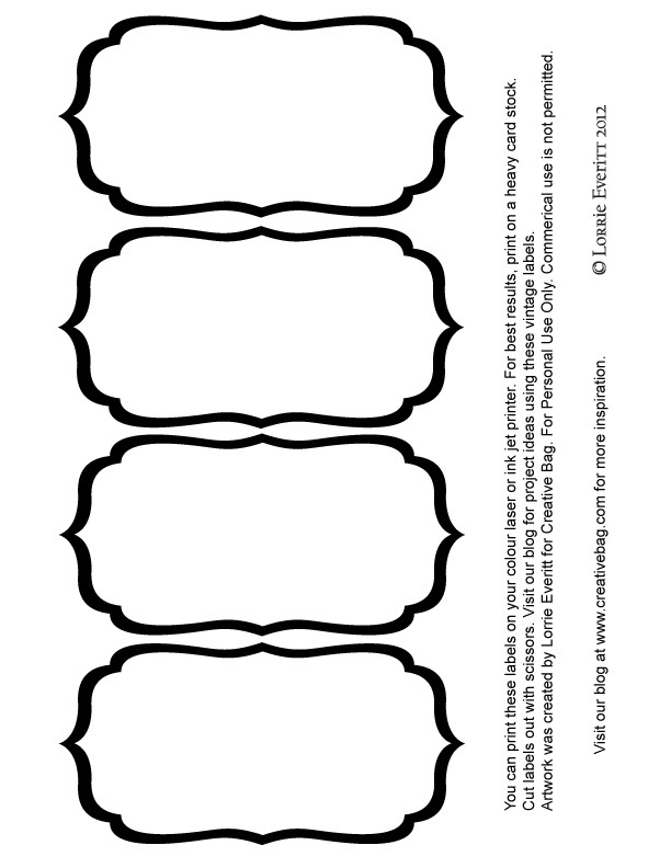 Black And White Blank Label Templates | Labels | Pinterest | Label with Black And White Label Templates 26966