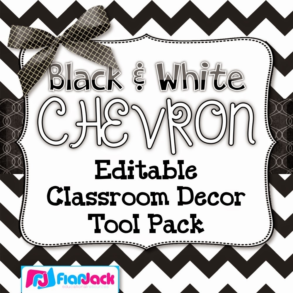 Black And White Chevron Editable Classroom Decor Tool Pack – Half Off! in Editable Black And White Labels 27739