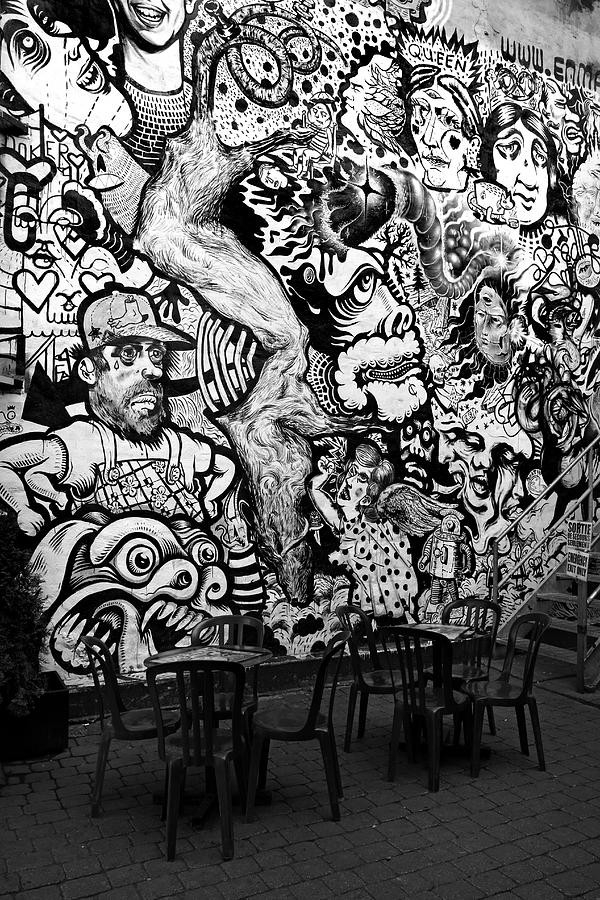 Black And White Graffiti Photograph By Pierre Leclerc Photography within Graffiti Wall Art Black And White 29928