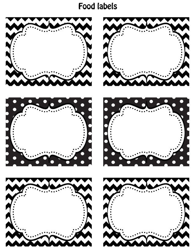 Black And White Label Templates | World Of Example intended for Black And White Label Templates 26966