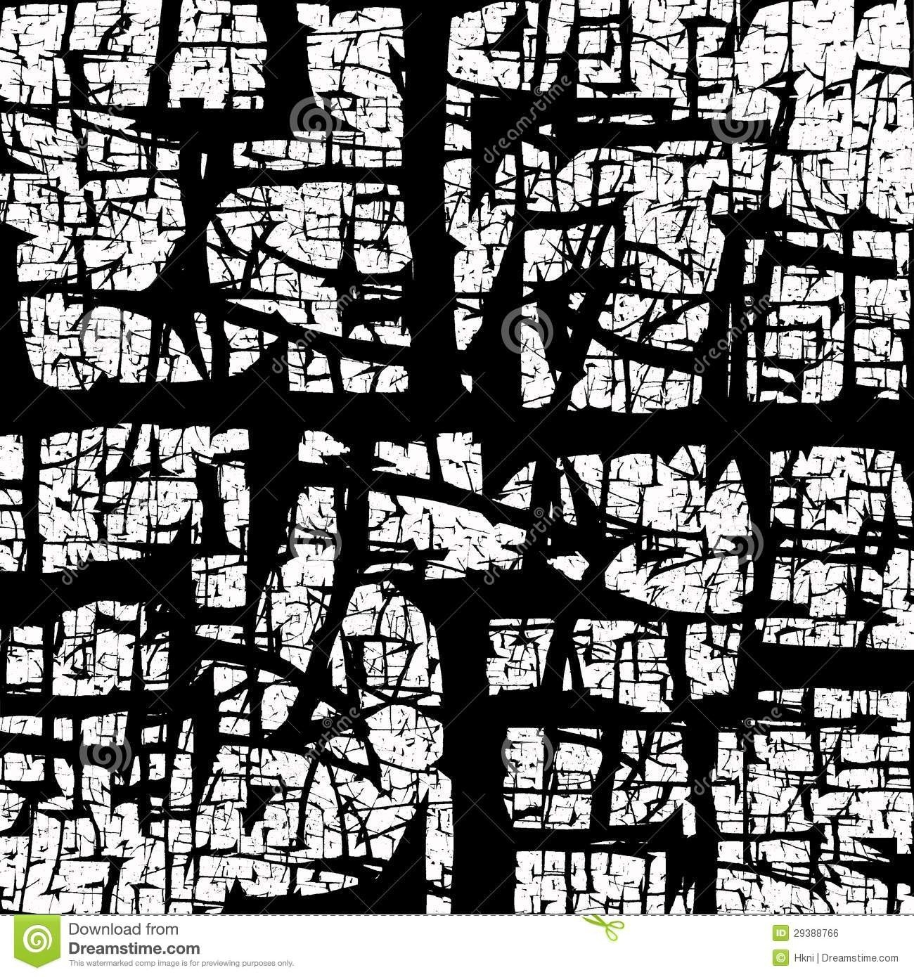 Black Crackled Abstract Texture Stock Illustration - Illustration regarding Black And White Abstract Texture 28074