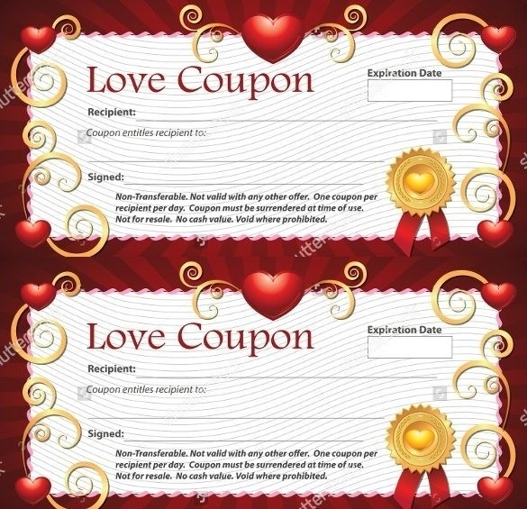 Blank Love Coupon Template | Journalingsage in Blank Love Coupons Template 30358