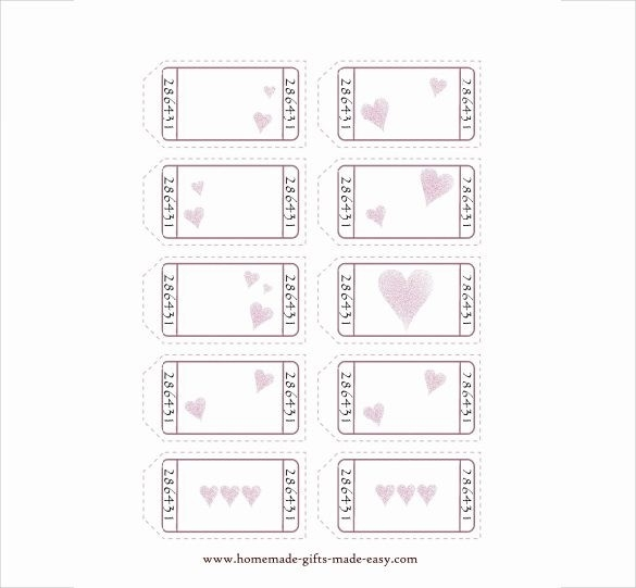 Blank Love Coupon Template | Postrendy regarding Blank Love Coupons Template 30358