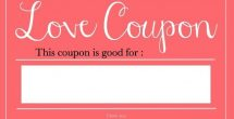 Blank Love Coupons For Him