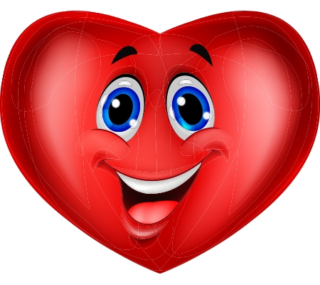 Blue-Eyed Heart | Messages, Emoticon And Smileys with regard to Heart Smiley Faces Clip Art 30699