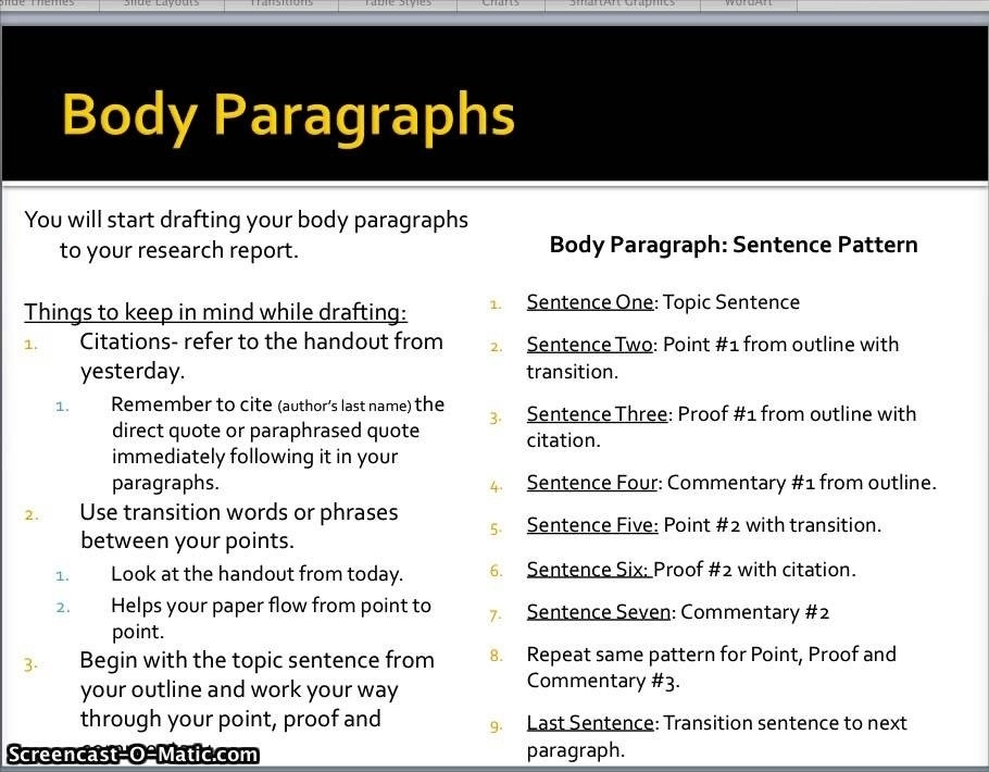 Body Paragraph Example For Research Paper | World Of Example for Research Paper Body Paragraph Examples 28861