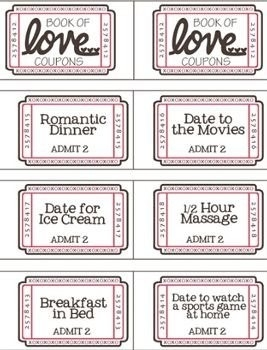 Book Of Love Coupons | Journalingsage with regard to Book Of Love Coupons 30349