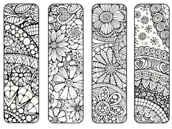 Bookmarks To Print And Color – Bookmark Coloring Page – Digital with Cool Bookmarks To Print Black And White 29582