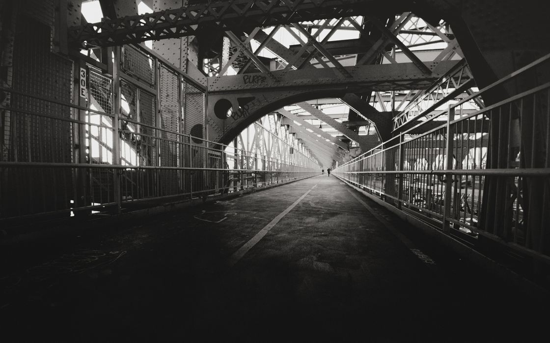 Bridge Bw Beams Metal Path Trail Black White Sidewalk Architecture with Black And White Architecture Wallpaper 29897