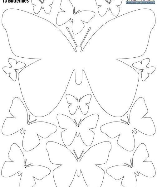 Butterly Wall Stickers- White | Wall Sticker, Iron And Butterfly with Butterfly Templates Lots Of Sizes