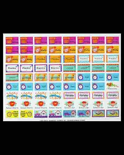 Calendar Reminder Stickers - Aztec Online pertaining to Calendar Reminder Stickers 30388