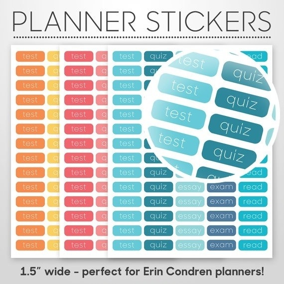 Calendar Stickers For College Students | World Of Example in Calendar Stickers For College Students 28268