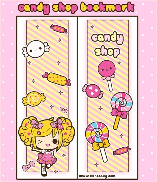 Candy Shop Bookmark Design By A-Little-Kitty | Crafts | Pinterest with regard to Cute Bookmark Designs To Print 26463
