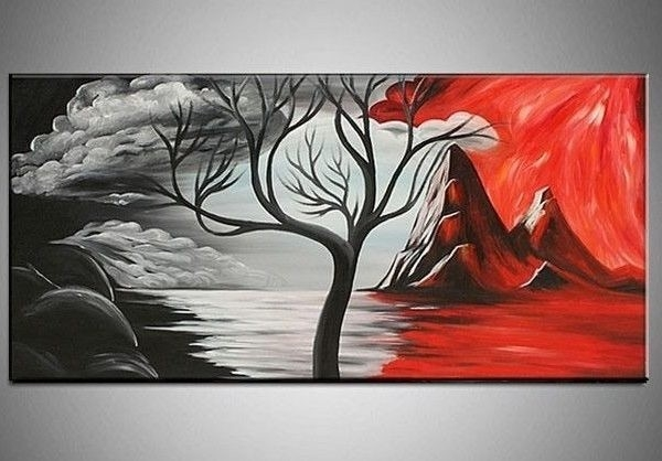Canvas Gallery Google Search Painting Pinterest Red Wall Art, Red within Black And White Wall Art Painting 28031