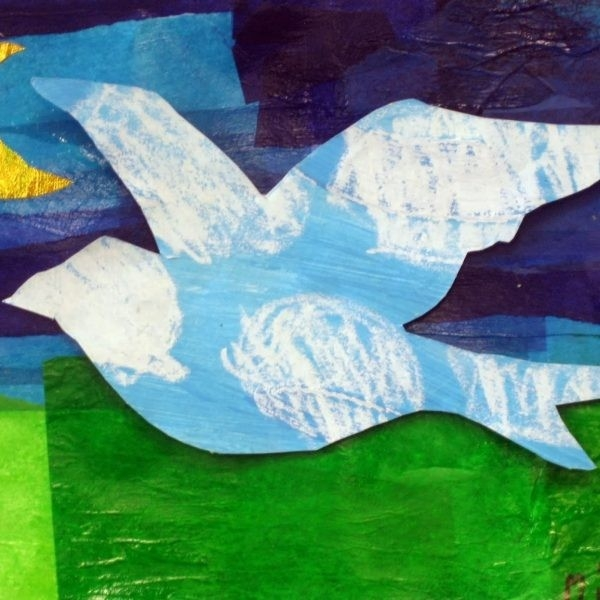 Cassie Stephens: Tissue Collage Regarding Tissue Paper Collage Art intended for Tissue Paper Collage Art Projects For Kids 28981