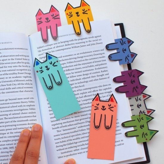 Cat And Book Lovers Unite! These Cute Cat Bookmarks Are Colorful within Cute Bookmarks To Make 28010