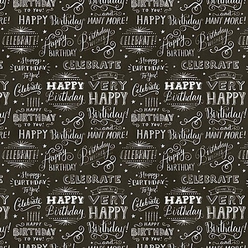 Chalkboard Gift Wrap | Paper Source | Design : Pattern & Color with regard to Birthday Wrapping Paper Black And White 29501