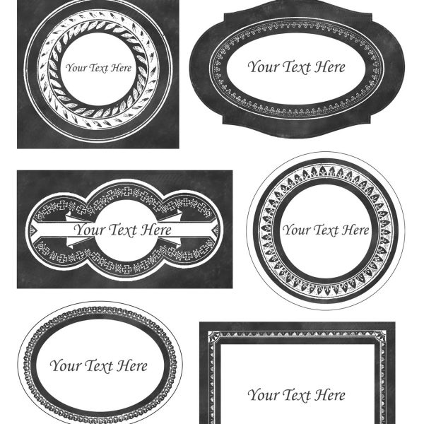 Chalkboard Style Printable Labels - Editable! - The Graphics Fairy with regard to Free Customizable Labels