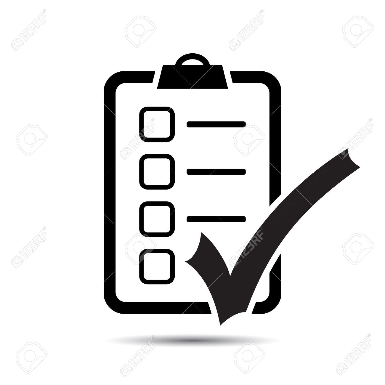 Check List Icon. Vector Royalty Free Cliparts, Vectors, And Stock regarding Checklist Icon Vector 25956