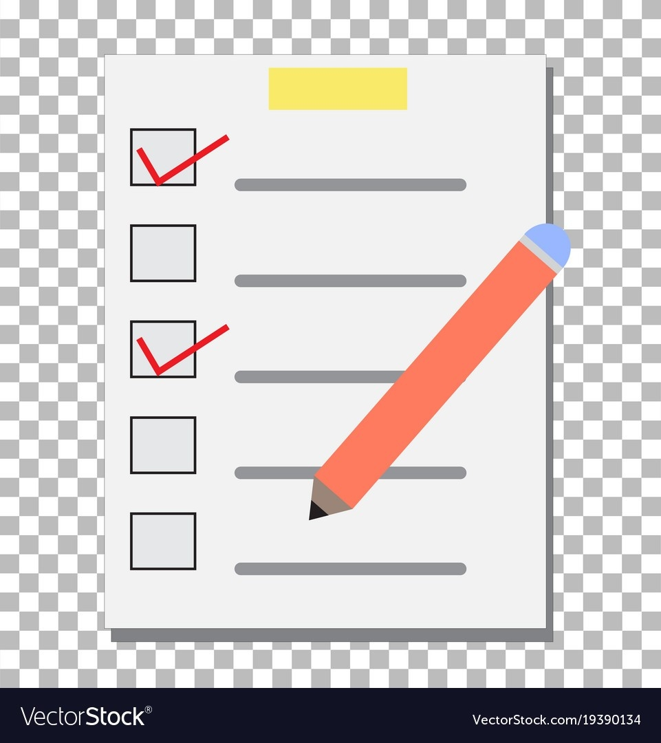 Check List Transparent Checklist Icon Pictogram Vector Image in Checklist Icon Transparent 25946