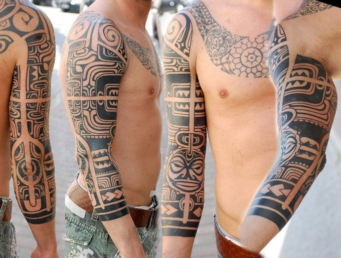 Check Out These 16 Geometric Full Sleeve Tattoos Designed By in Geometric Shape Tattoo Sleeve 25613