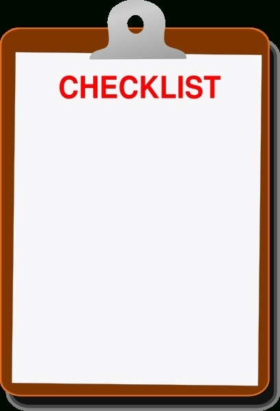 Checklist Clipboard Png | World Of Example throughout Clipboard Checklist Template 26172