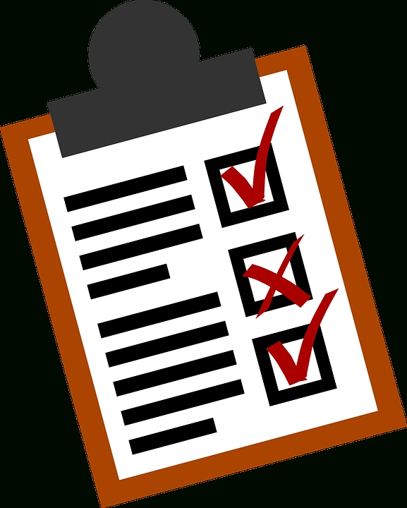 Checklist Lists Business · Free Vector Graphic On Pixabay regarding Checklist Clipart Png 25313