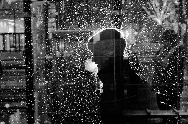 Chicago Lights: Flash Street Photography By Satoki Nagata | Colossal inside Black And White Abstract Photography Of People 28042