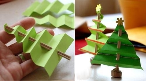 Christmas Craft Ideas For Kids. Handmade Christmas Trees From with regard to Handmade Crafts Ideas For Kids 29180
