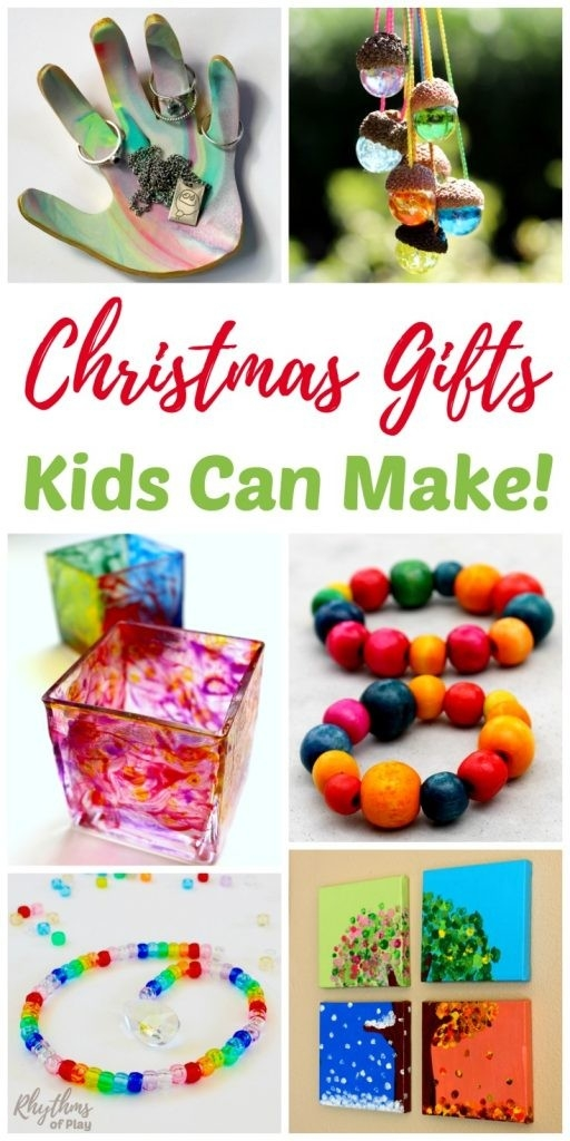 Christmas Gifts Kids Can Make Your Family Will Love! | Rhythms Of Play intended for Easy Handmade Crafts For Kids 29240