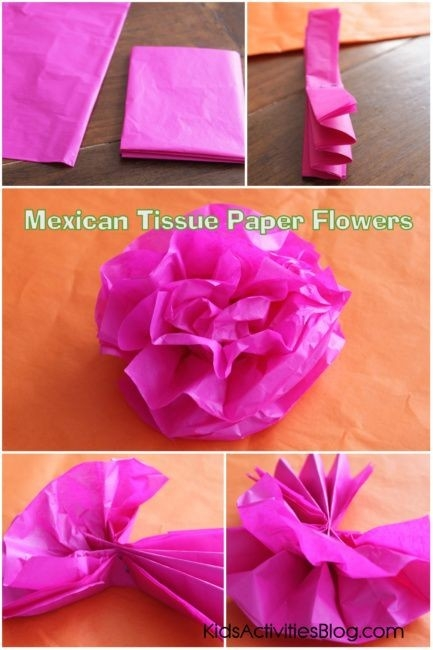 Cinco De Mayo: Mexican Paper Flowers | Tissue Paper Crafts, Cinco with How To Make Tissue Paper Crafts 26814