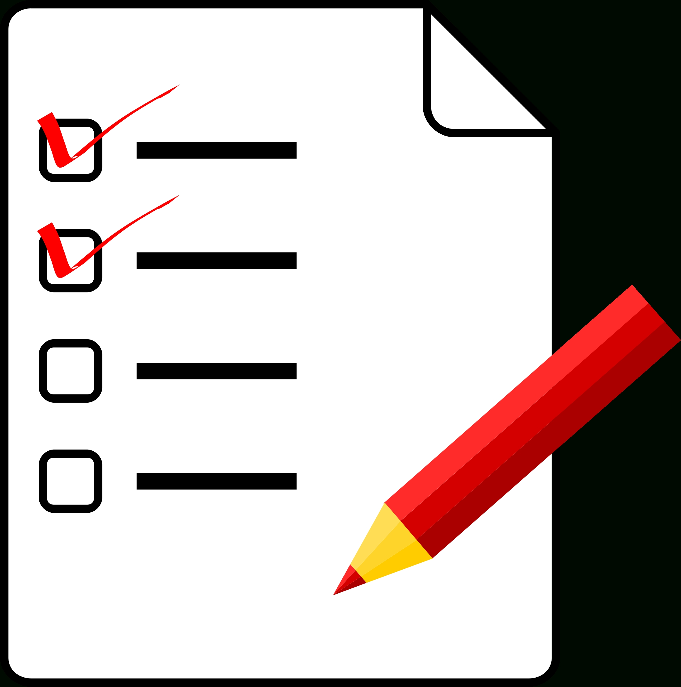 Clipart - Checklist pertaining to Checklist Clipart Png 25313