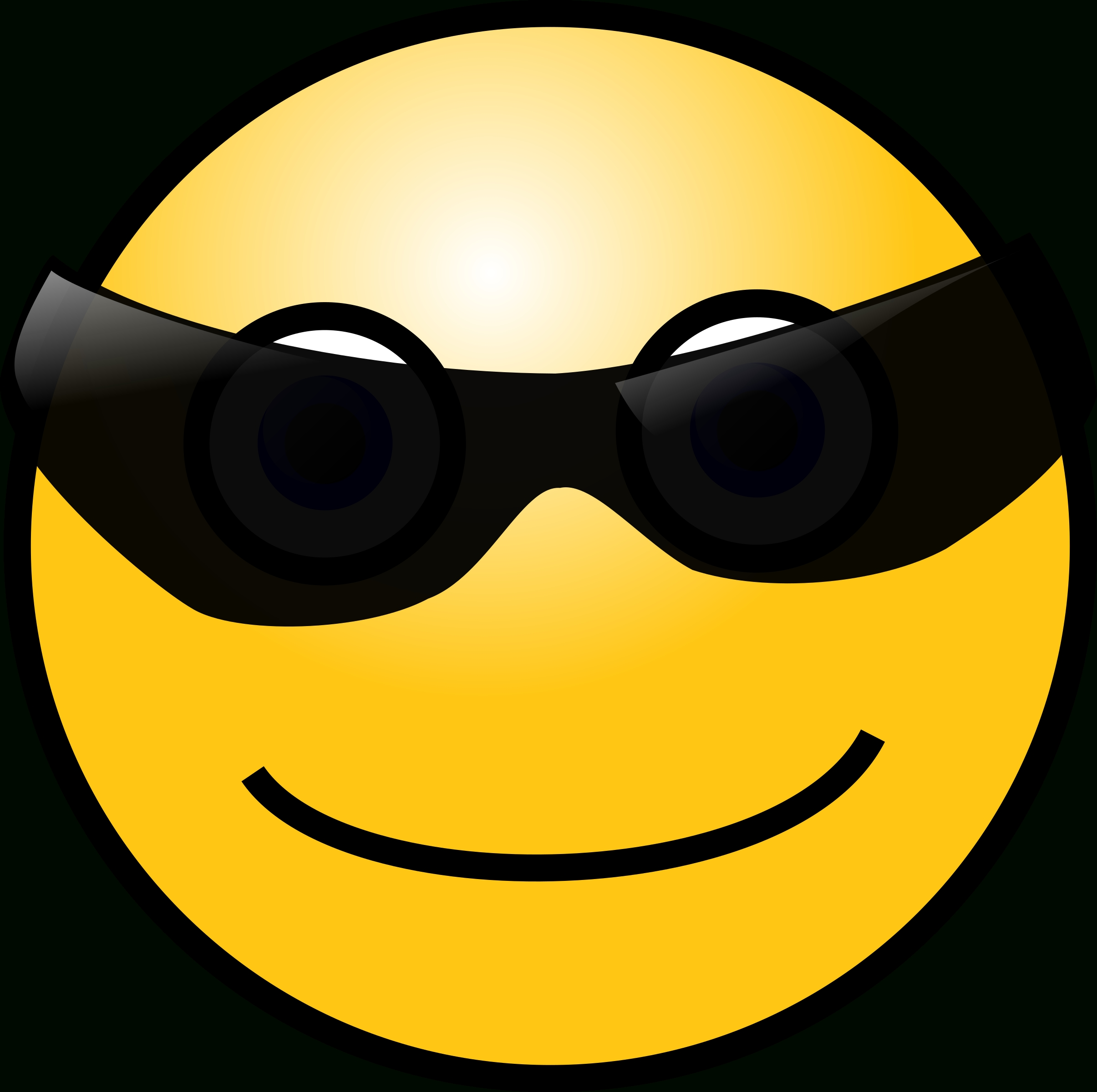 Clipart - Emoticons: Cool Face regarding Cool Smiley Face With Shades 30564