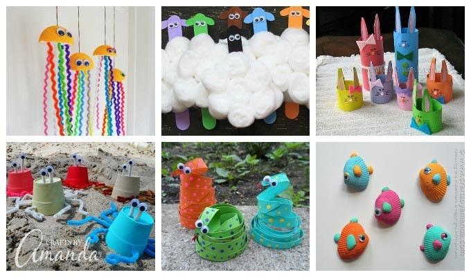 Colorful Kid's Crafts - More Than 55 Colorful Craft Ideas for Crafts For Kids With Recycled Materials 27049