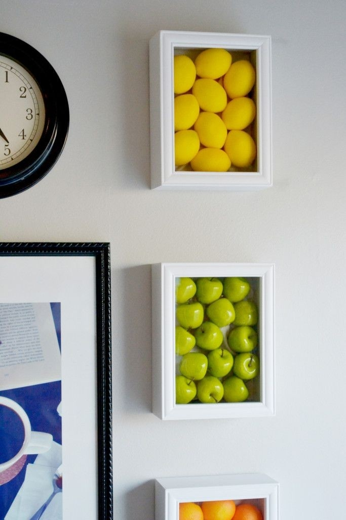 Colorful Kitchen Wall Art With Fake Fruits   Walls, Kitchens And with Fruits Kitchen Wall Art 27099