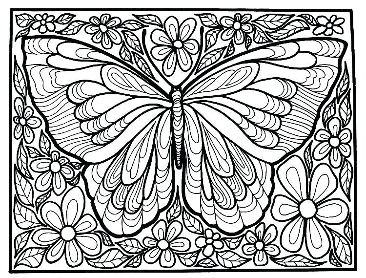 Coloring Pages Butterflies – Golfclix throughout Detailed Butterfly Coloring Pages For Adults 29481