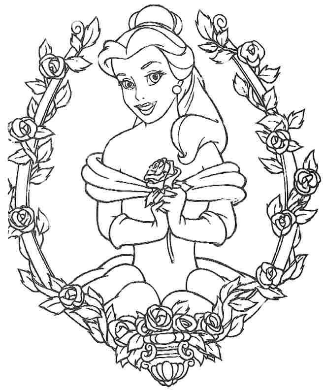 Colouring Sheets Disney Princess Belle Free For Girls & Boys in Disney Princess Belle Coloring Pages For Girls 29431
