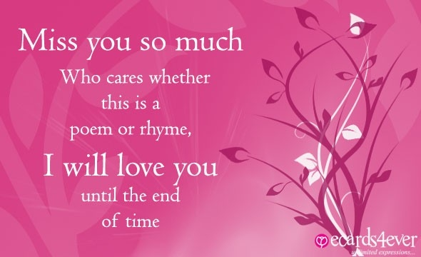 Compose Card - I Miss You Greeting Cards, Miss You Cards For Lover inside I Miss U Cards For Love 30148