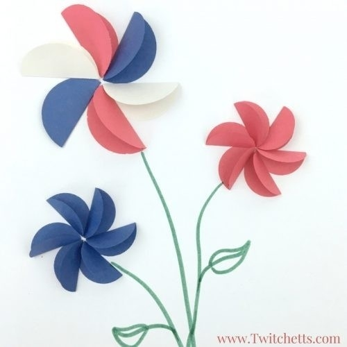 Construction Paper Flowers | World Of Example intended for Construction Paper Flowers 28616
