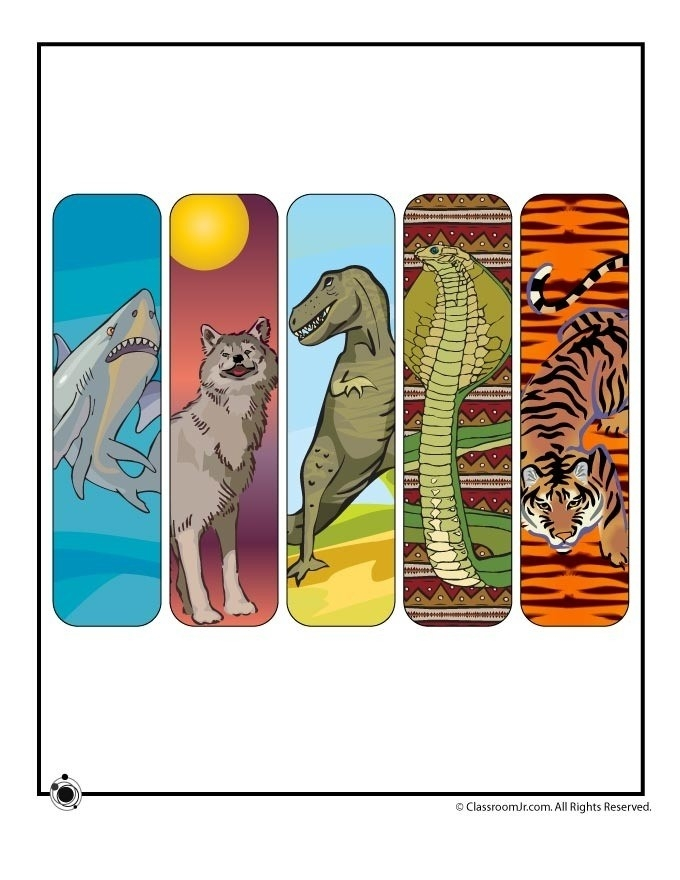 Cool Animal Bookmarks To Print | World Of Example throughout Cool Animal Bookmarks To Print 26644