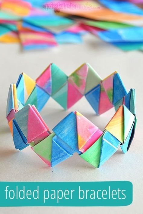 Cool Crafts For Teen Girls | Paper Bracelet, Teen And Bracelets pertaining to Paper Crafts For Teenagers 27440