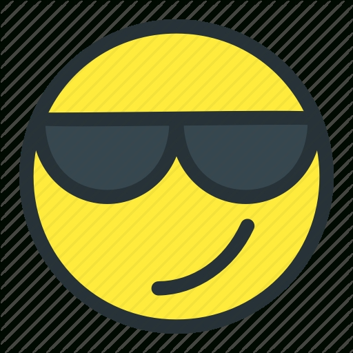 Cool, Emoji, Emoticons, Face, Smiley, Sunglasses Icon | Icon in Cool Smiley Face With Shades 30564