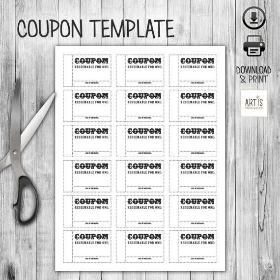 Coupon Book, Coupon Template, Empty Love Coupon, Date Diy Coupon for Empty Love Coupons For Him 28226