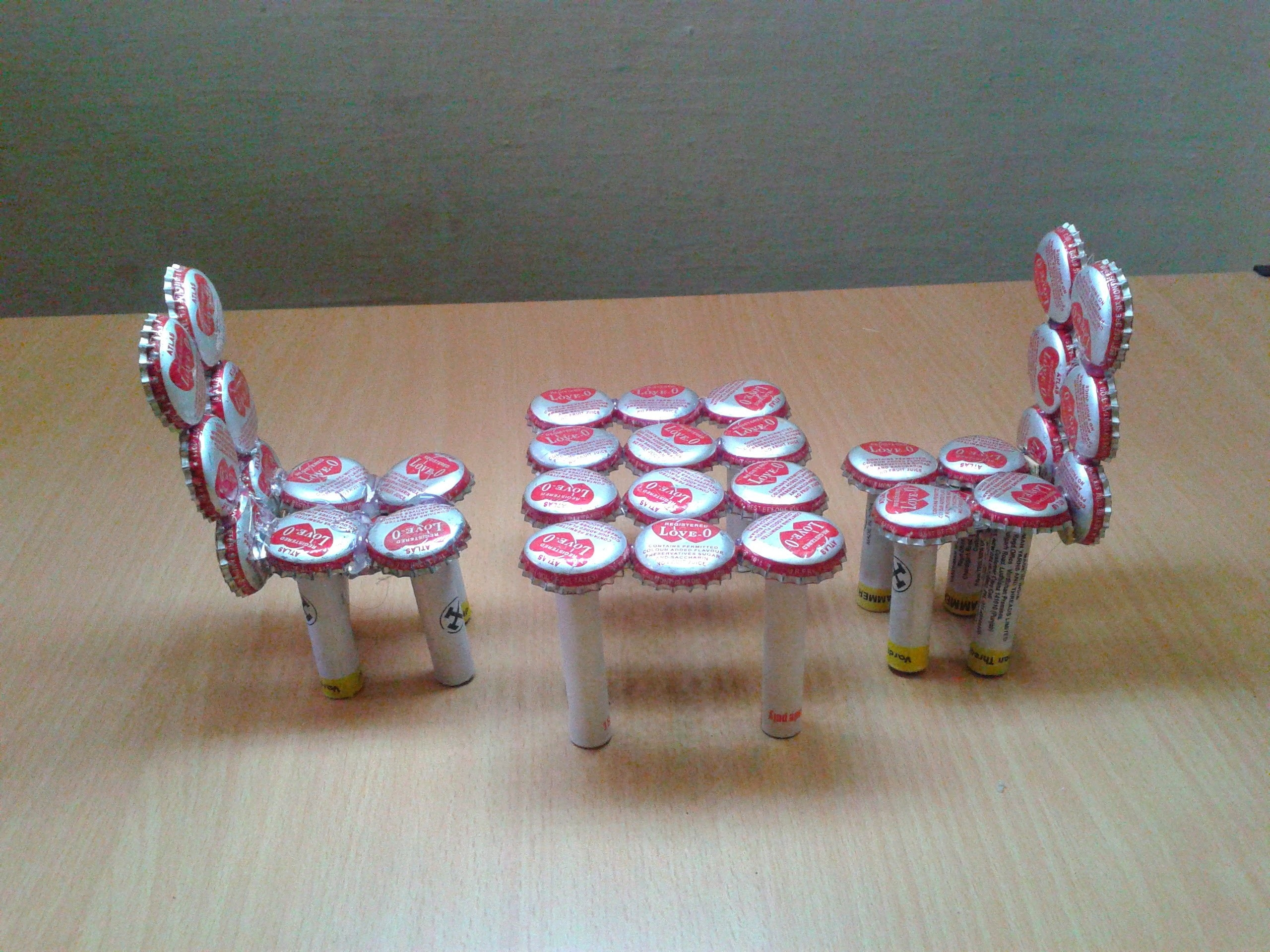 Craft Ideas Kids Waste Material Make Miniature Table Chairs - Home throughout Art And Craft Ideas From Waste Material For Kids 29250
