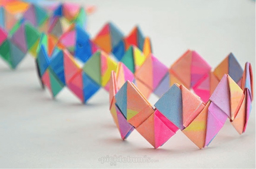 Crafts-For-Girls-Folded-Paper-Bracelet - No More Still within Paper Crafts For Teenagers 27440