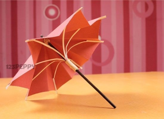 Crafts+To+Make+At+Home | How To Make Umbrella - Step By Step throughout Crafts For Kids To Do At Home With Paper Step By Step 27020