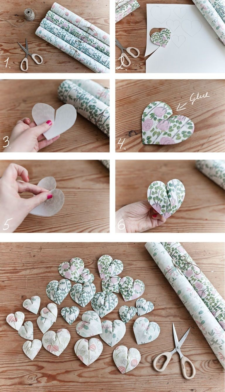 Create This Pretty Paper Heart Wall Hanging In 6 Easy Steps | 3D with How To Make Wall Hangings With Paper Step By Step 29300